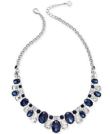 "Charter Club Crystal & Stone Collar Necklace, 17"" + 2"" extender, Created for Macy's"