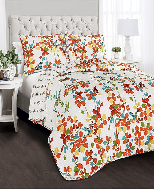 Lush Decor Weeping Flower 3-Pc. Quilt Sets