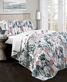 Zuri Flora 3-Pc Set King Quilt Set