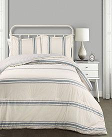 Farmhouse Stripe 3-Pc Set Full/Queen Comforter Set