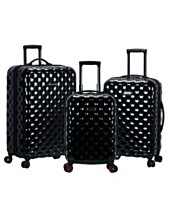 Rockland Quilt 3-Piece Polycarbonate Spinner Luggage Set feeec3ce95cf5