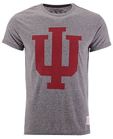 Retro Brand Men's Indiana Hoosiers Retro Logo Tri-blend T-Shirt
