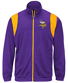 G-III Sports Men's Minnesota Vikings Clutch Time Track Jacket