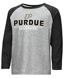 Colosseum Purdue Boilermakers Long Sleeve Raglan T-Shirt, Toddler Boys (2T-4T)