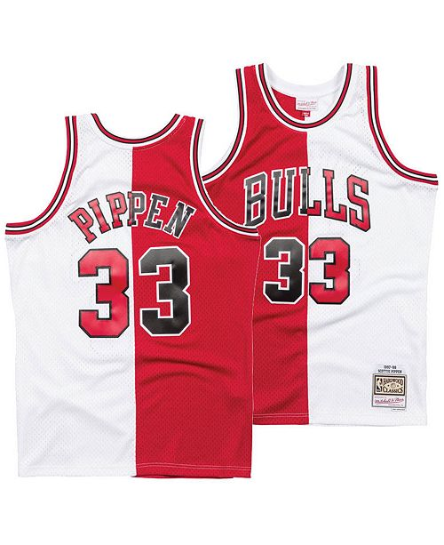 on sale 46dfc 58a94 Men's Scottie Pippen Chicago Bulls Split Swingman Jersey