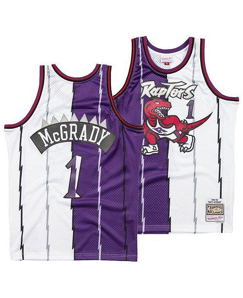7dbbaf56a4d6 ... Mitchell   Ness Men s Tracy McGrady Toronto Raptors Split Swingman  Jersey ...