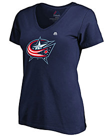 Majestic Women's Columbus Blue Jackets Primary Logo T-Shirt
