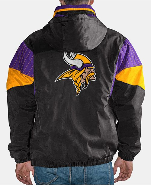 newest 7abdd 363b6 Starter Men's Minnesota Vikings Drop Back Nylon Front Zip ...
