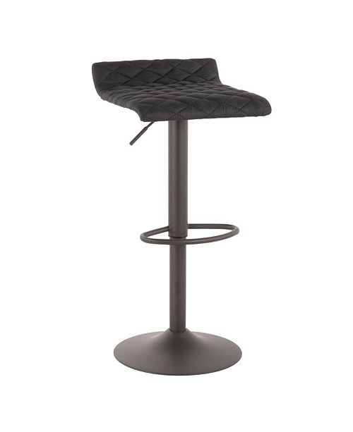 Lumisource Cavale Adjustable Barstool in Faux Leather