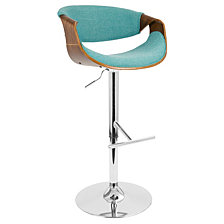Lumisource Curvo Adjustable Barstool with Swivel
