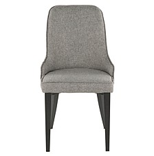 Nueva Chair in Metal and Fabric Set of 2