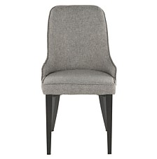 Lumisource Nueva Chair in Metal and Fabric Set of 2