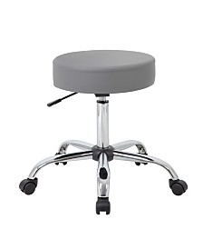 Boss Office Products Adjustable Upholstered Medical Stool