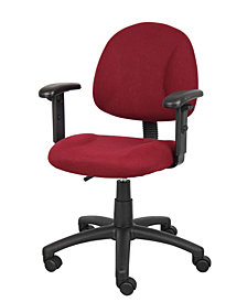 Boss Office Products Perfect Posture Deluxe Office Task Chair with Adjustable Arms