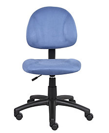 Boss Office Products Perfect Posture Delubye Modern Home Office Chair without Arms