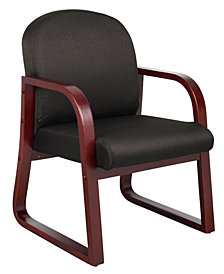 Boss Office Products Sled Base Reception Chair