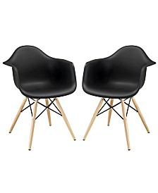 Modway Pyramid Dining Armchair Set of 2