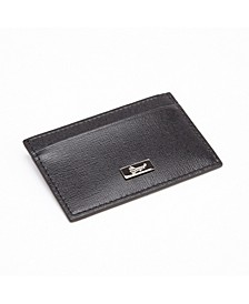 Royce RFID Blocking Slim Credit Card Wallet in Genuine Saffiano Leather
