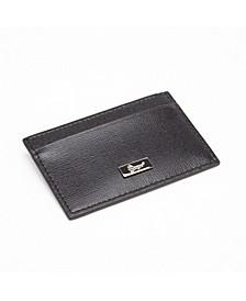 Royce RFID Blocking Slim Credit Card Wallet in Genuine Saffiano Leather