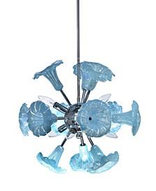 Yuri Blue 6-Light Art Glass Hanging Fixture