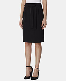 Tahari ASL Tie-Waist Stretch Skirt