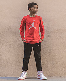 Jordan Big Boys Speckled Jumpman Graphic Cotton T-Shirt