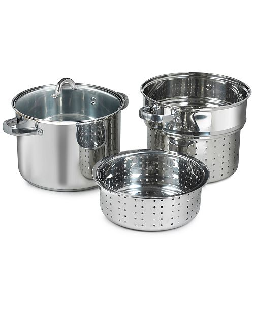 Sedona 4-Piece Stainless Steel Multi Cooker with Steamer