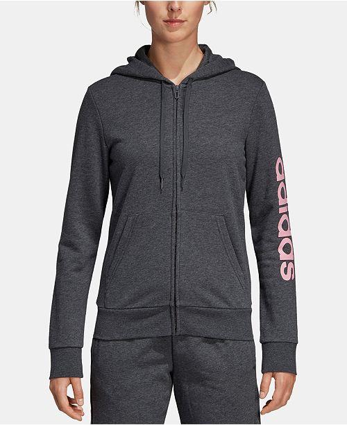 adidas Women's Linear Logo Fleece Hoodie