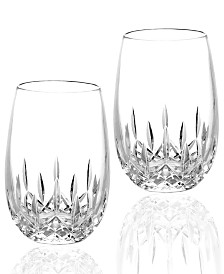 Waterford Stemware Lismore Nouveau Stemless White Wine Glasses, Set of 2