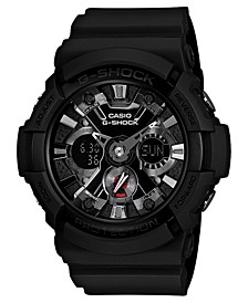 Men's Analog Digital Black Resin Strap Watch 55x53mm GA201-1A