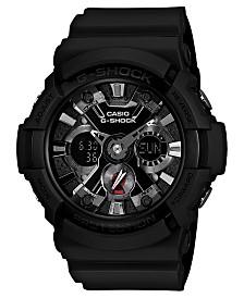 G-Shock Men's Analog Digital Black Resin Strap Watch 55x53mm GA201-1A