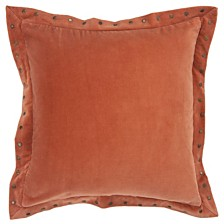 "Rizzy Home Solid 18"" x 18"" Pillow Cover"