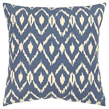 """Rizzy Home 18"""" x 18"""" Ikat Pillow Cover"""