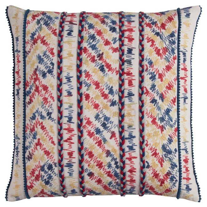 """Rizzy Home 20"""" x 20"""" Threaded Stripe Pillow Cover"""