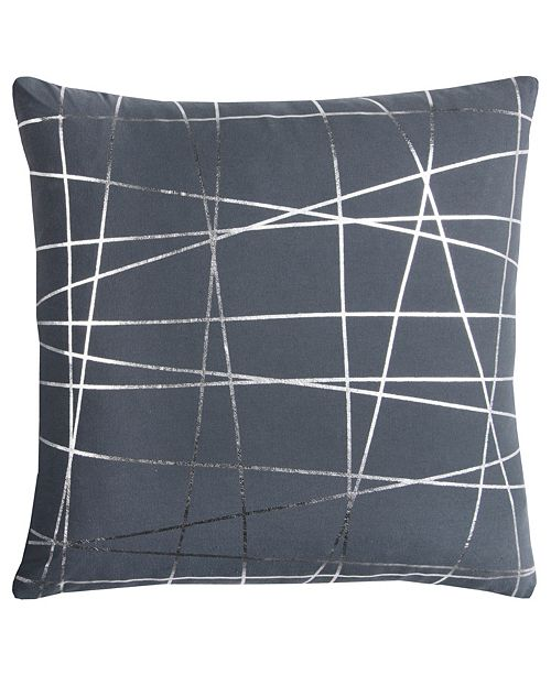 "Rizzy Home Rachel Kate 20"" x 20"" Abstract Pillow Cover"