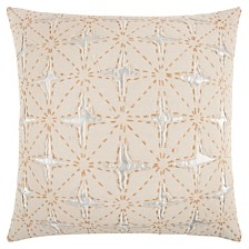 """Rizzy Home 24"""" x 24"""" Deconstructed Stripe Pillow Cover"""