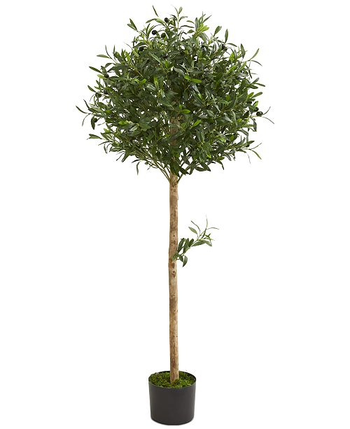 Nearly Natural 5' Olive Topiary Artificial Tree