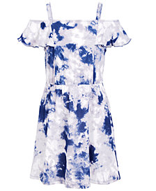 Epic Threads Super Soft Little Girls Tie-Dyed Cold-Shoulder Dress, Created for Macy's