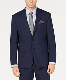Men's UltraFlex Classic-Fit Windowpane Jacket