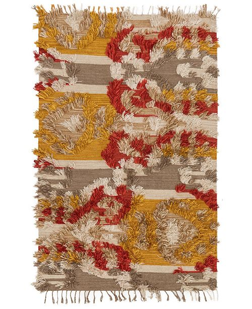 "Justina Blakeney Fable FD-02 Camel/Sunset 18"" Square Swatch"