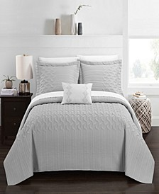 Shalya 4 Piece Queen Quilt Set