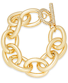 Thalia Sodi Gold-Tone Pavé Large Link Bracelet, Created for Macy's