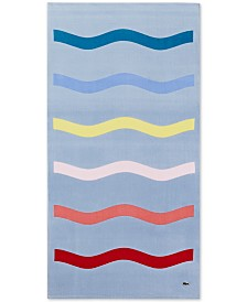 "CLOSEOUT! Lacoste Kane Cotton 36"" x 72"" Beach Towel"