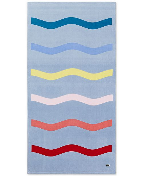 "Lacoste  Kane Cotton 36"" x 72"" Beach Towel"