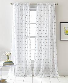Ella Pompom Dot Sheer Curtain Set