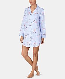 Lauren Ralph Lauren Notch-Collar Printed Sleepshirt