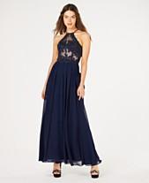3188b3ef68 Blondie Nites Juniors  Rhinestone Embroidered Illusion Gown