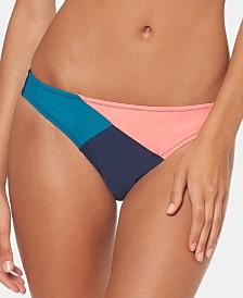 Jessica Simpson Colorblocked Hipster Bikini Bottoms