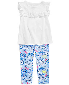 First Impressions Baby Girls Ruffled Top & Floral-Print Leggings, Created for Macy's