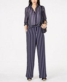 MICHAEL Michael Kors Railroad-Stripe Top & Pants